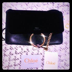 CHLOE Calfskin Mini Faye Day Shoulder Bag Black
